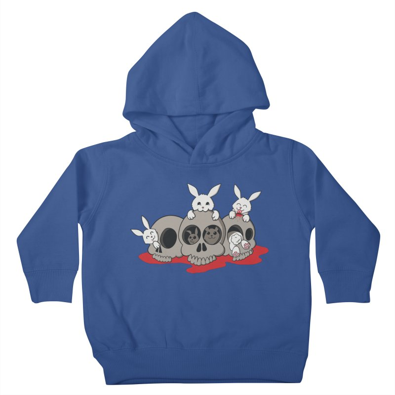 bunnies and skulls Kids Toddler Pullover Hoody by manikx's Artist Shop