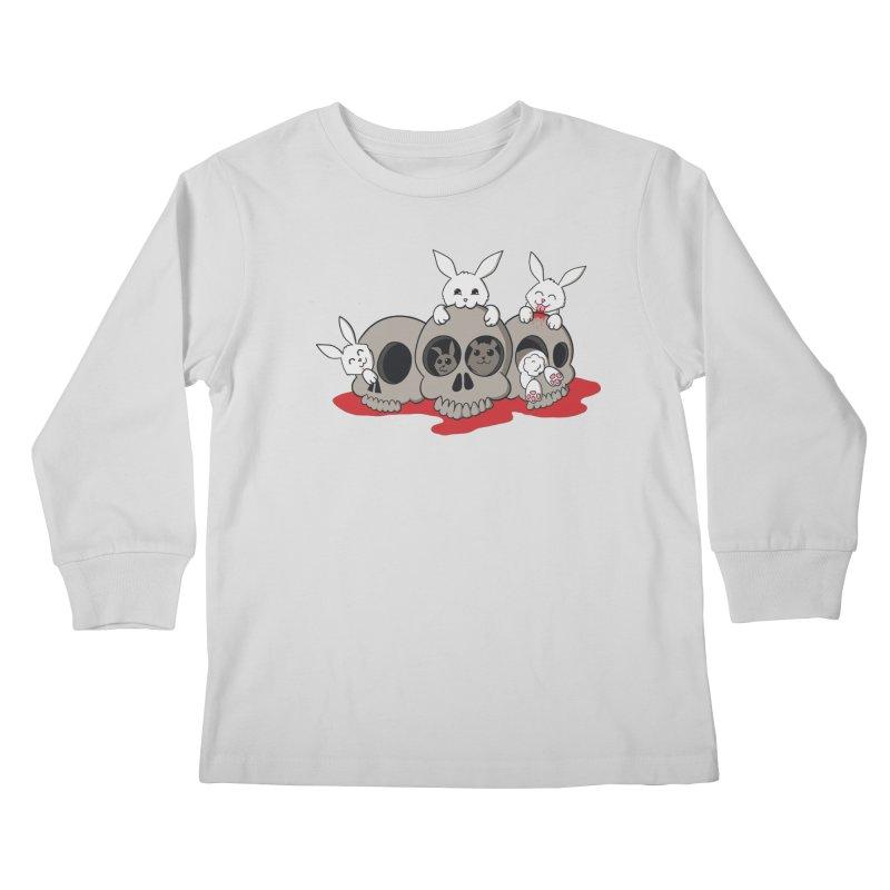 bunnies and skulls Kids Longsleeve T-Shirt by manikx's Artist Shop
