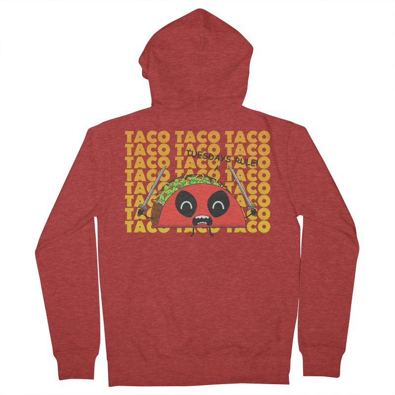 tacos rule! Men's Zip-Up Hoody by manikx's Artist Shop