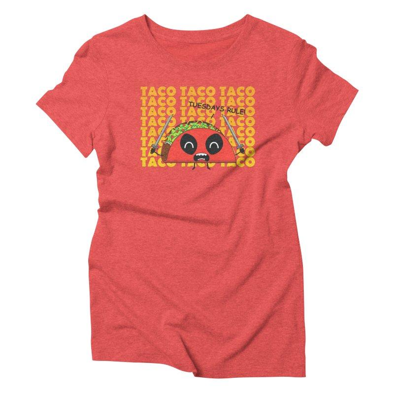 tacos rule! Women's Triblend T-shirt by manikx's Artist Shop