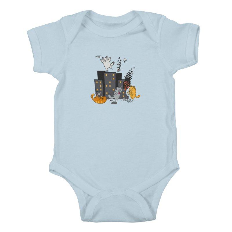 cattastrafy Kids Baby Bodysuit by manikx's Artist Shop