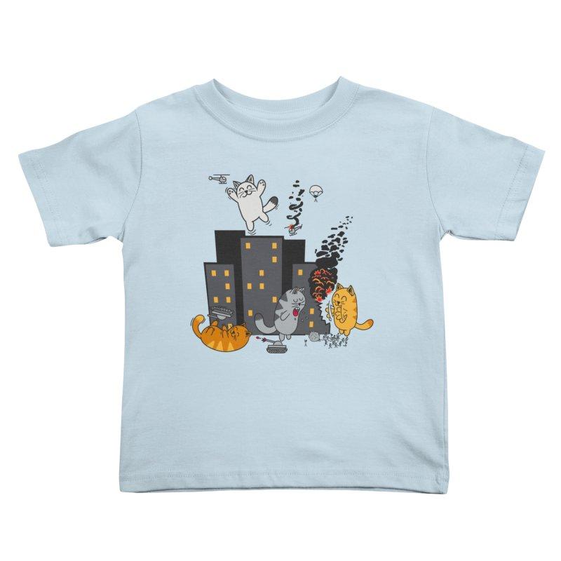 cattastrafy Kids Toddler T-Shirt by manikx's Artist Shop
