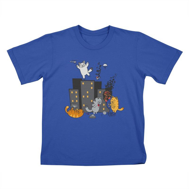 cattastrafy Kids T-shirt by manikx's Artist Shop