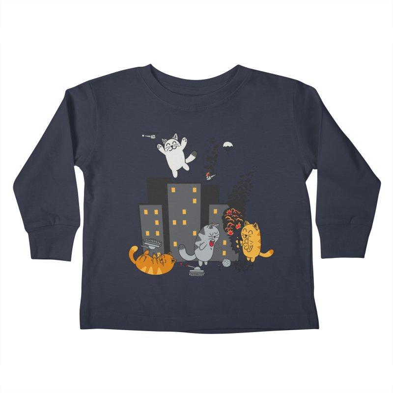 cattastrafy Kids Toddler Longsleeve T-Shirt by manikx's Artist Shop