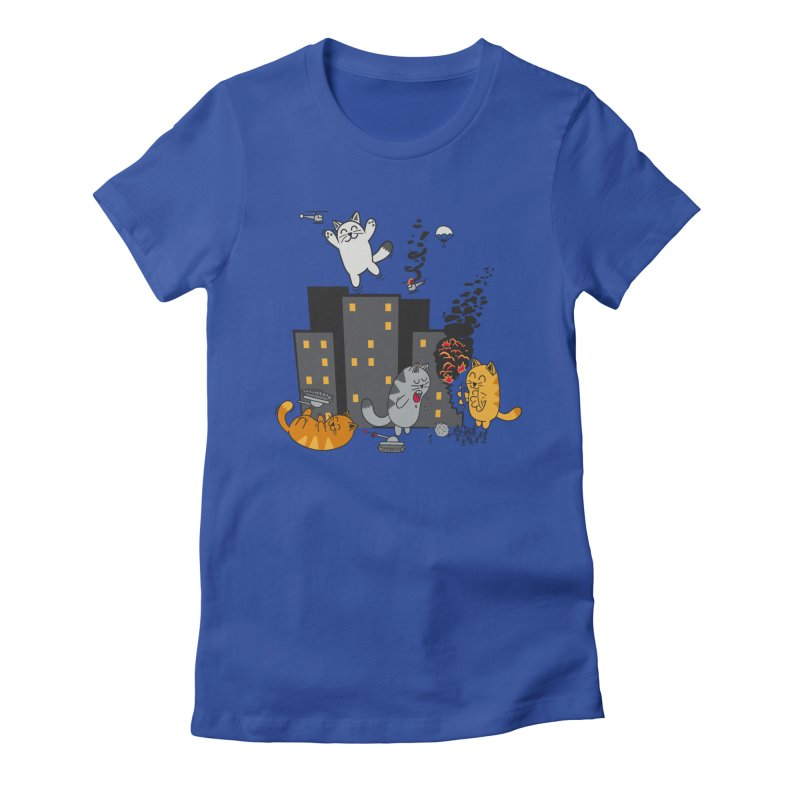 cattastrafy Women's Fitted T-Shirt by manikx's Artist Shop
