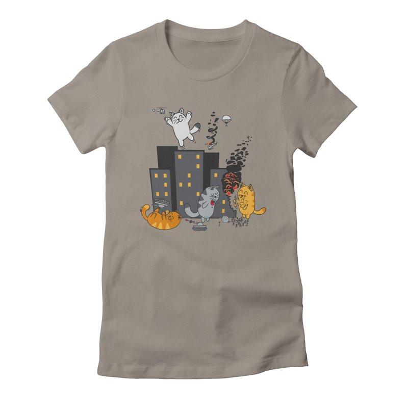 cattastrafy Women's Fitted T-Shirt by manikx's Artist Shop