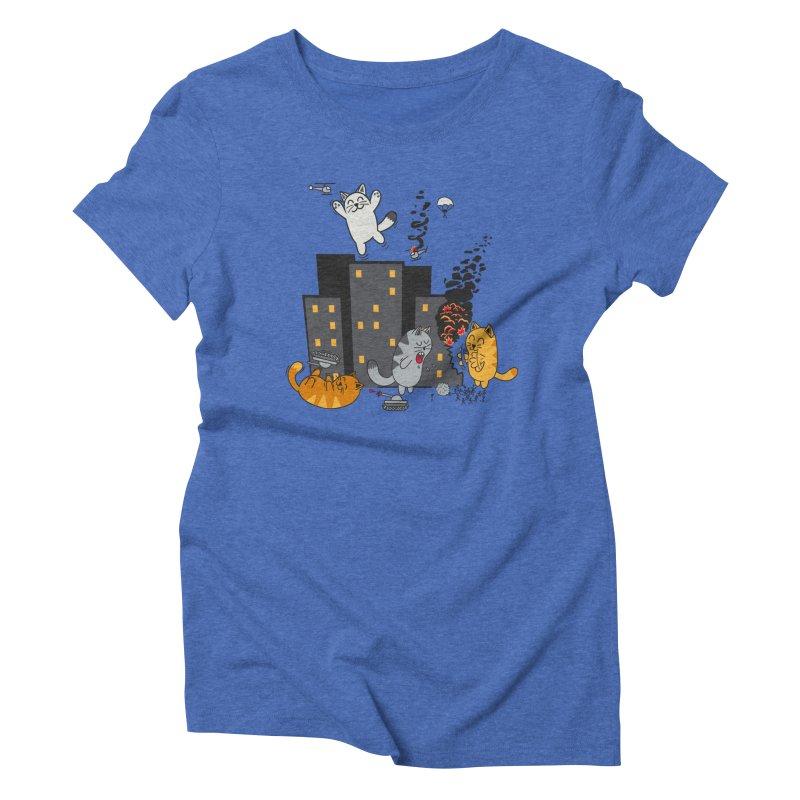 cattastrafy Women's Triblend T-shirt by manikx's Artist Shop
