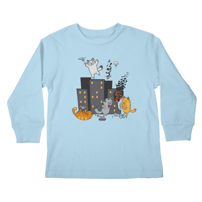 cattastrafy Kids Longsleeve T-Shirt by manikx's Artist Shop
