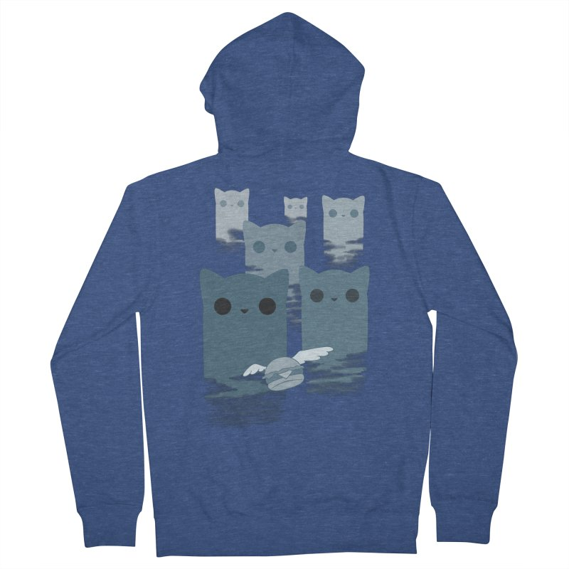 meow mountains Women's Zip-Up Hoody by manikx's Artist Shop