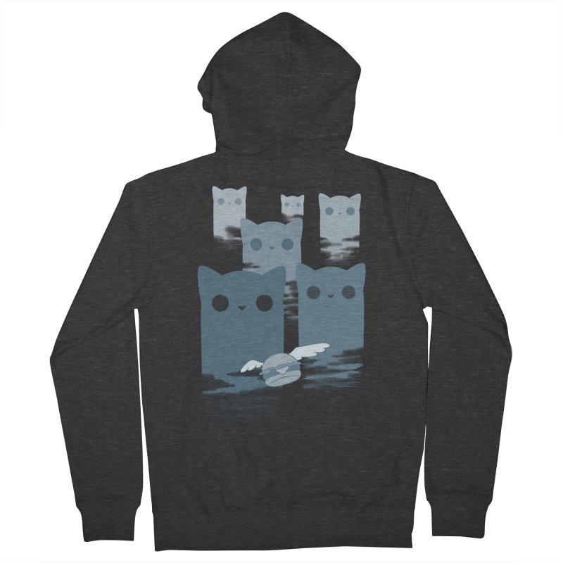 meow mountains Men's Zip-Up Hoody by manikx's Artist Shop