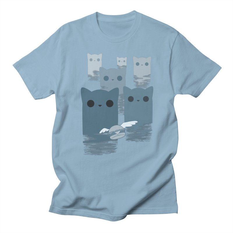 meow mountains Men's T-shirt by manikx's Artist Shop