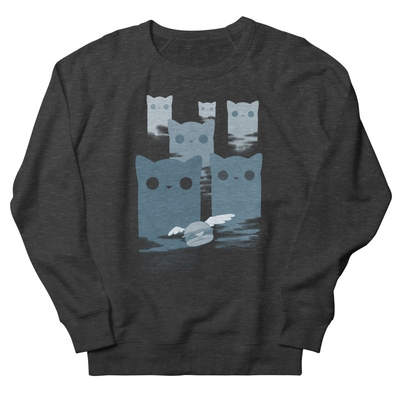 meow mountains Men's Sweatshirt by manikx's Artist Shop