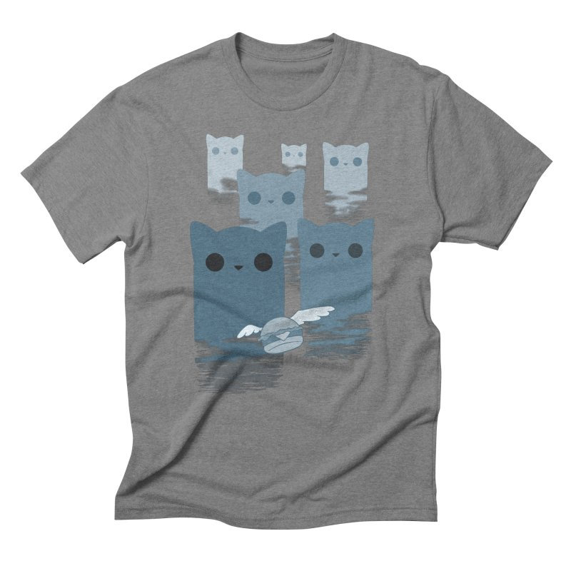meow mountains Men's Triblend T-Shirt by manikx's Artist Shop