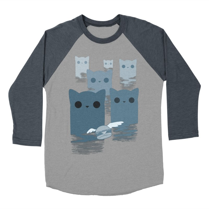 meow mountains Women's Baseball Triblend T-Shirt by manikx's Artist Shop