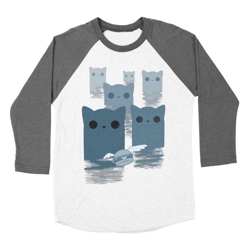 meow mountains Men's Baseball Triblend T-Shirt by manikx's Artist Shop