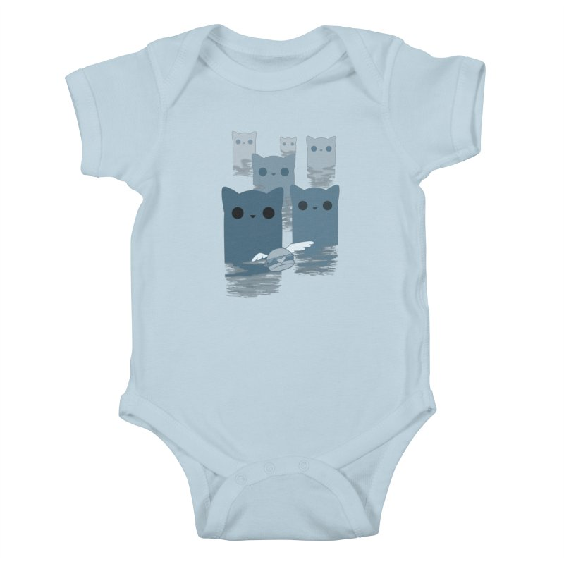 meow mountains Kids Baby Bodysuit by manikx's Artist Shop