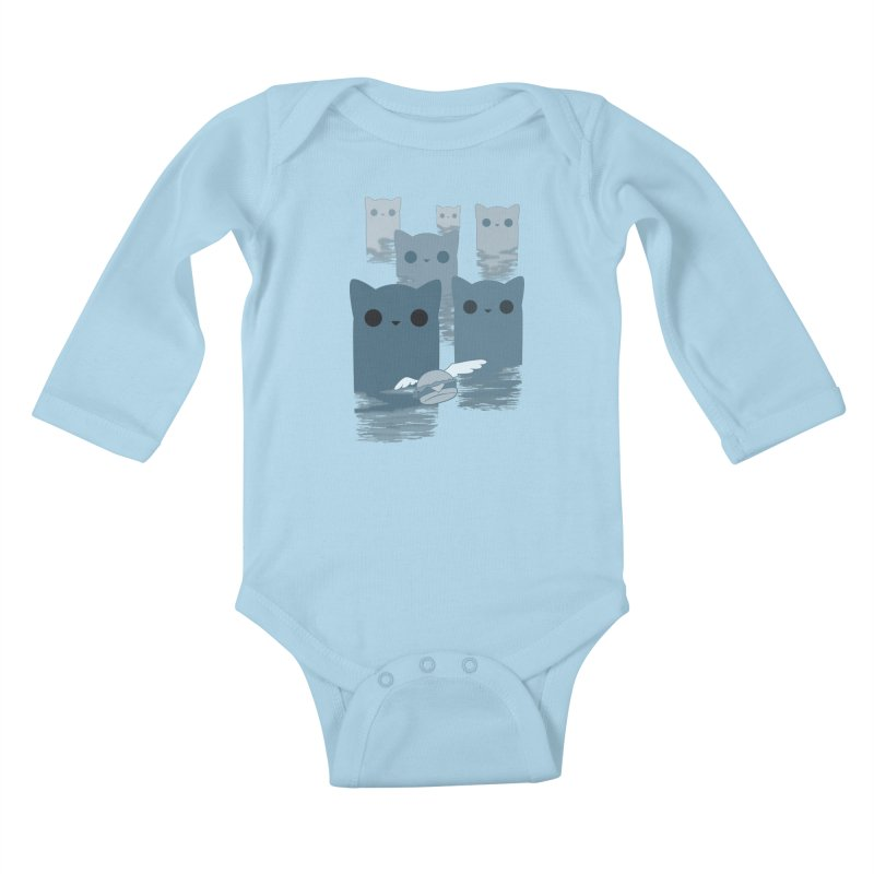 meow mountains Kids Baby Longsleeve Bodysuit by manikx's Artist Shop