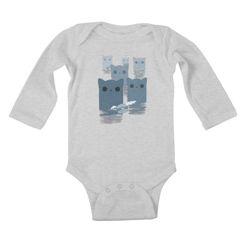 meow mountains Kids Baby Longsleeve Bodysuit by manikx's Artist Shop