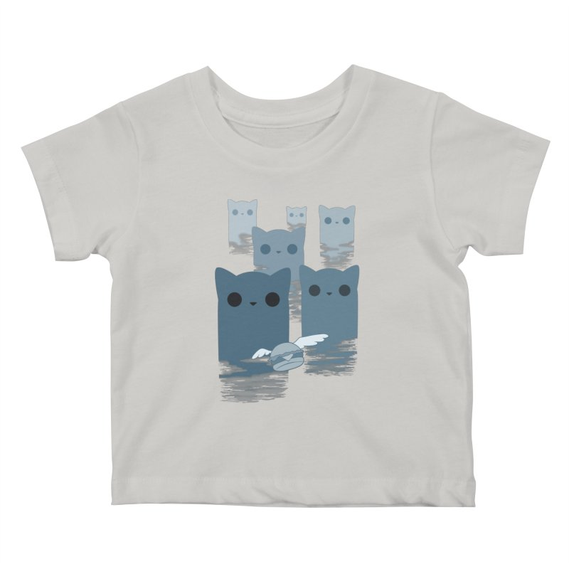 meow mountains Kids Baby T-Shirt by manikx's Artist Shop
