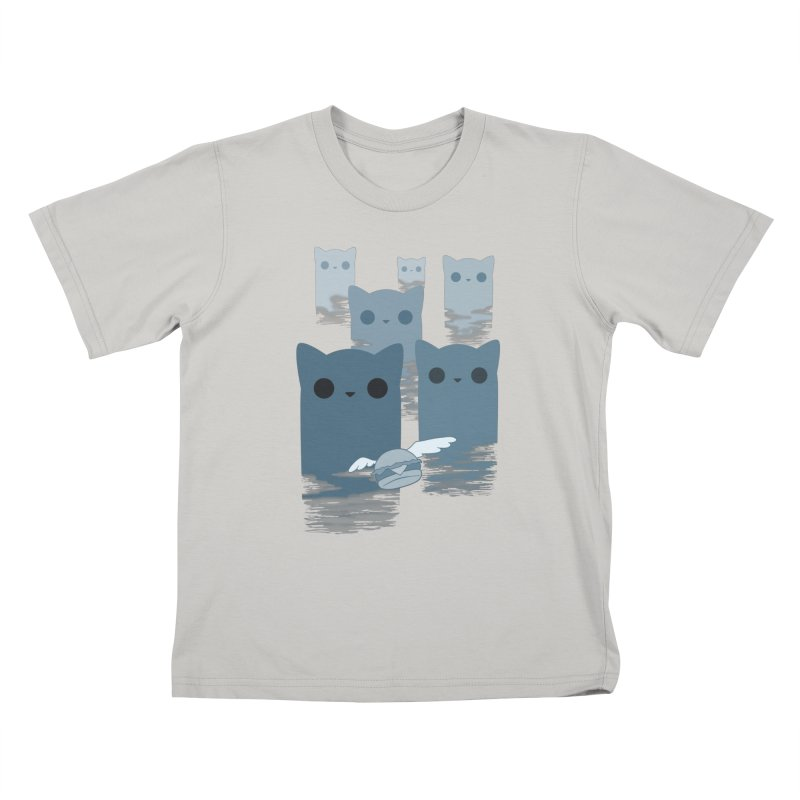 meow mountains Kids T-Shirt by manikx's Artist Shop