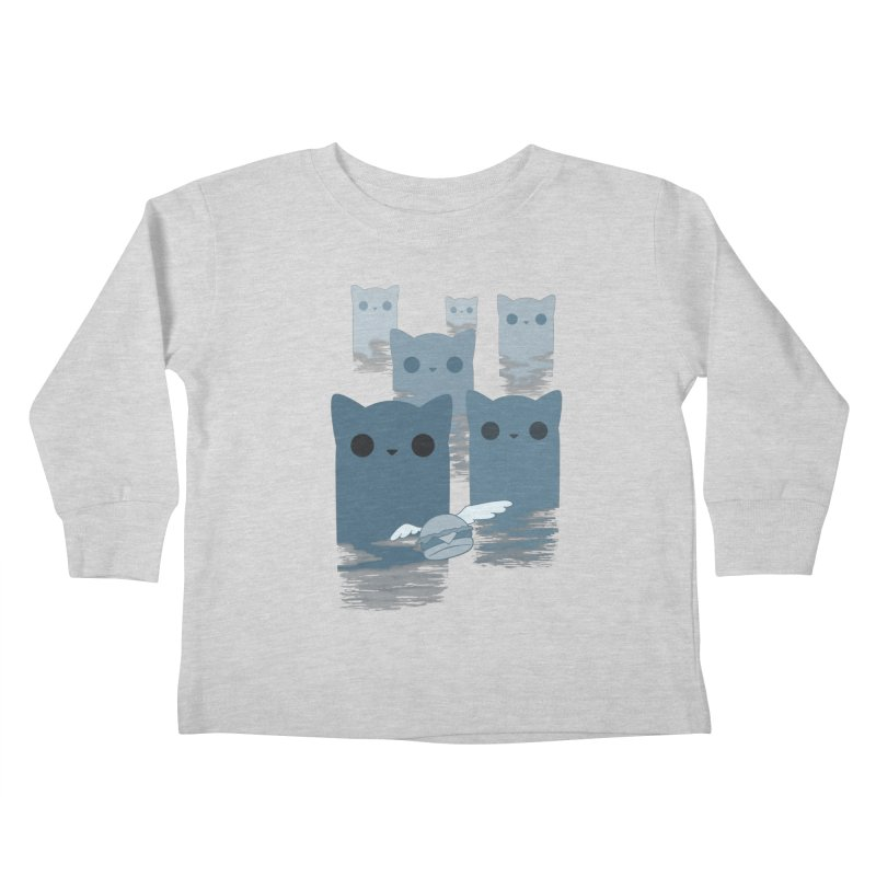 meow mountains Kids Toddler Longsleeve T-Shirt by manikx's Artist Shop