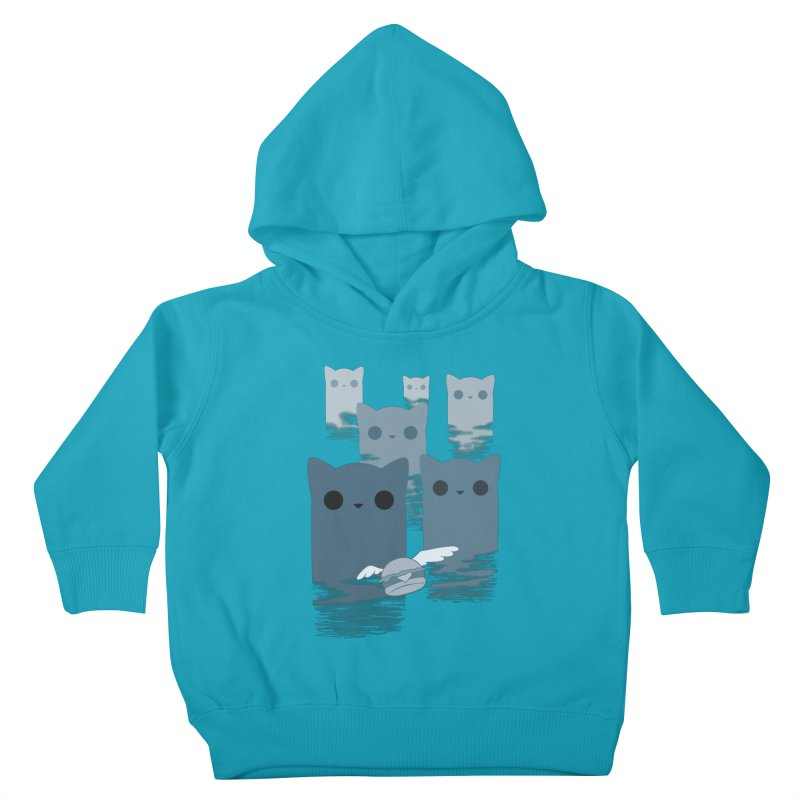 meow mountains Kids Toddler Pullover Hoody by manikx's Artist Shop