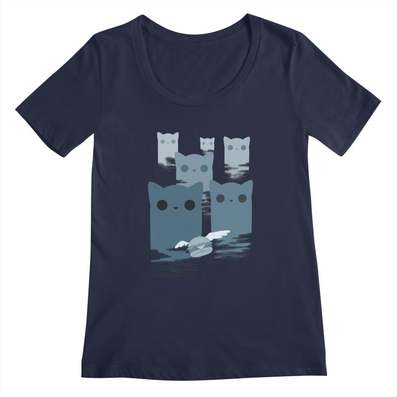 meow mountains Women's Scoopneck by manikx's Artist Shop