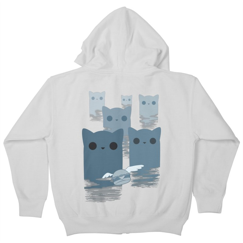 meow mountains Kids Zip-Up Hoody by manikx's Artist Shop