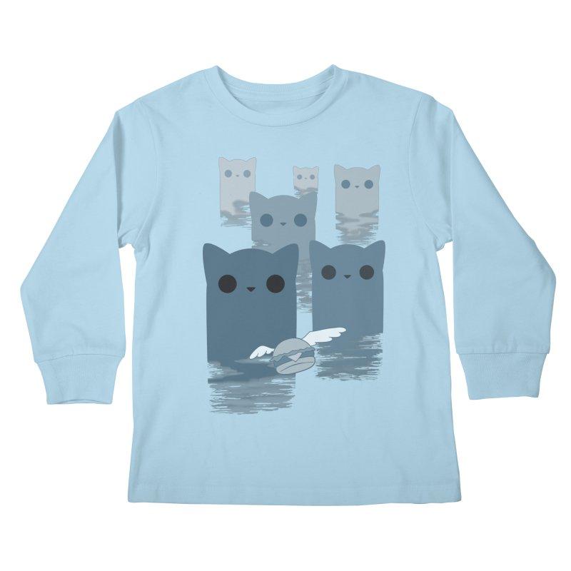 meow mountains Kids Longsleeve T-Shirt by manikx's Artist Shop