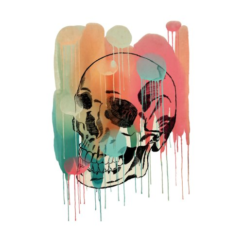 Design for Watercolor and Pencil Skull