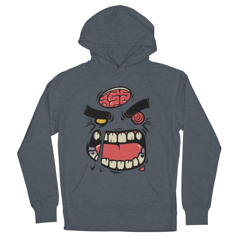 ANGRY ZOMBIE Women's Pullover Hoody by mankeeboi's Artist Shop