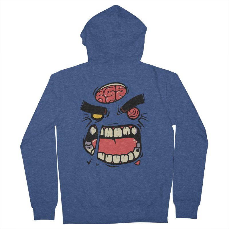 ANGRY ZOMBIE Women's Zip-Up Hoody by mankeeboi's Artist Shop