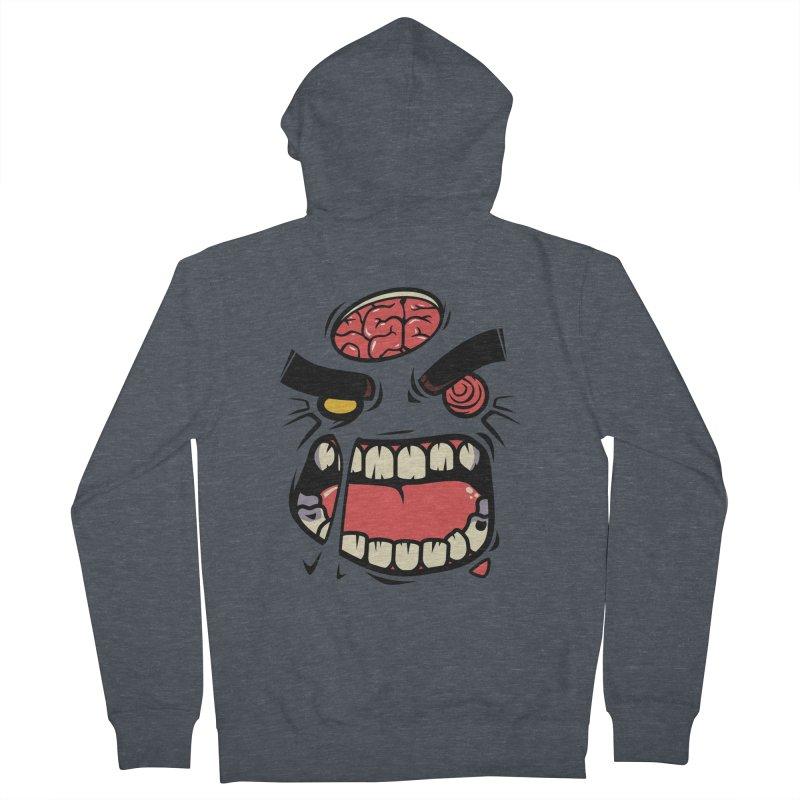 ANGRY ZOMBIE Men's Zip-Up Hoody by mankeeboi's Artist Shop