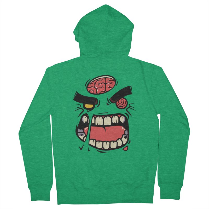 ANGRY ZOMBIE Men's Zip-Up Hoody by mankeeboi's Artist Shop