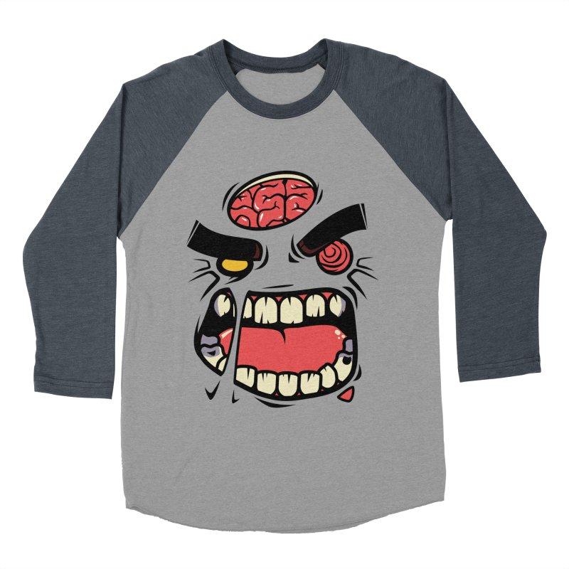 ANGRY ZOMBIE Men's Baseball Triblend T-Shirt by mankeeboi's Artist Shop
