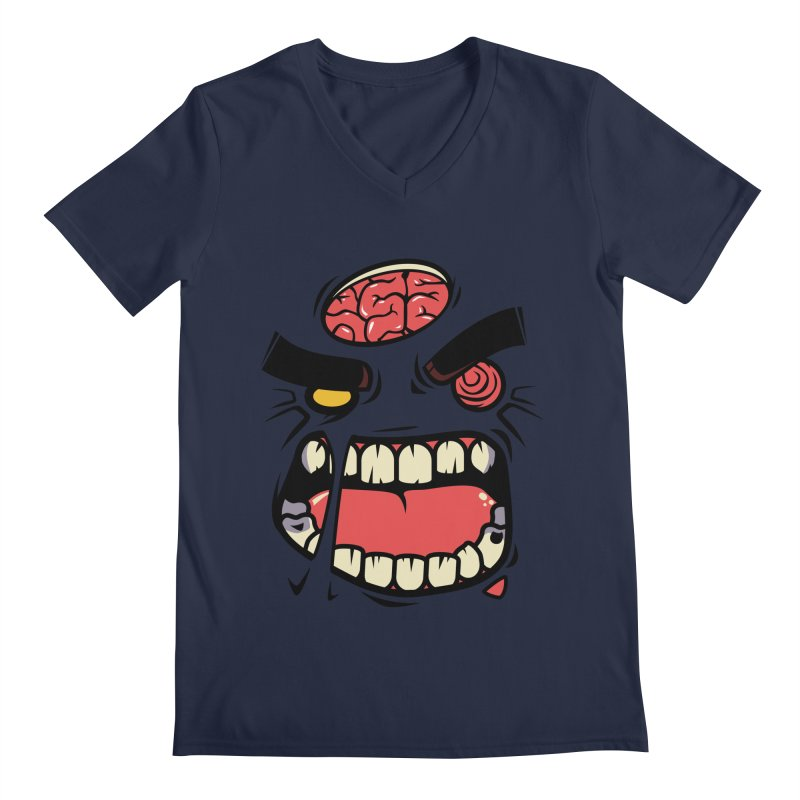 ANGRY ZOMBIE Men's V-Neck by mankeeboi's Artist Shop