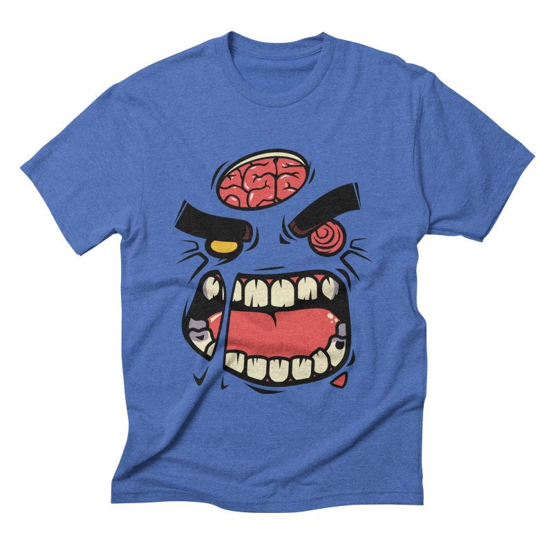 ANGRY ZOMBIE Men's Triblend T-shirt by mankeeboi's Artist Shop