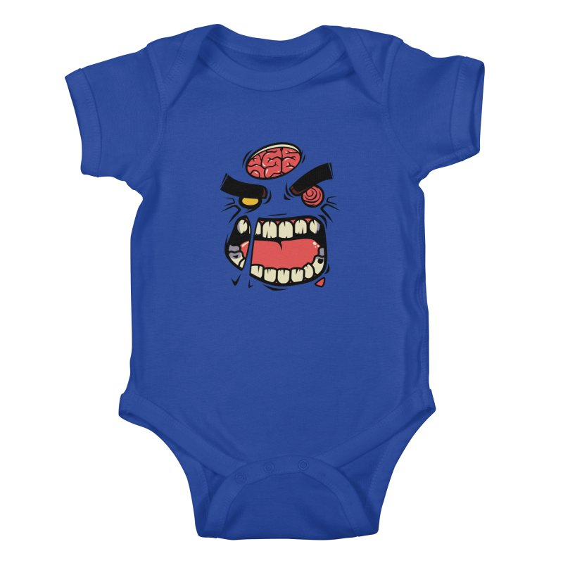 ANGRY ZOMBIE Kids Baby Bodysuit by mankeeboi's Artist Shop