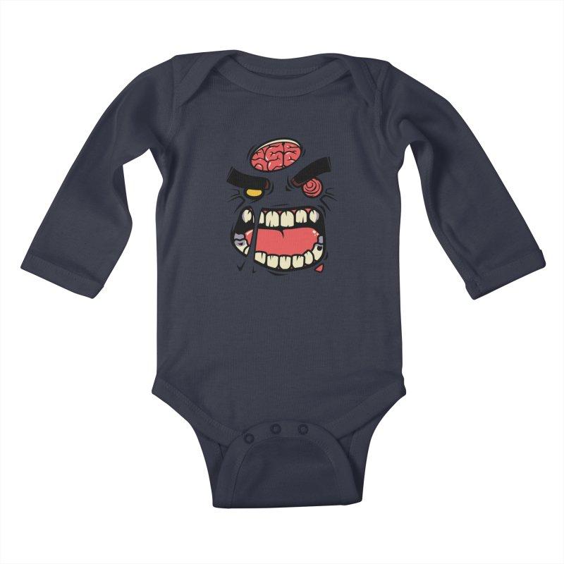 ANGRY ZOMBIE Kids Baby Longsleeve Bodysuit by mankeeboi's Artist Shop
