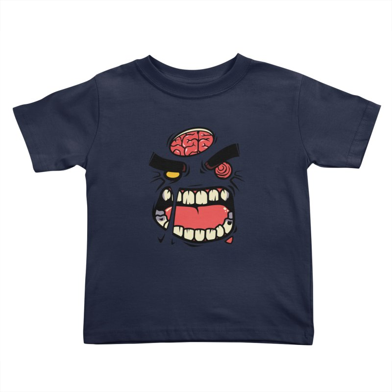 ANGRY ZOMBIE Kids Toddler T-Shirt by mankeeboi's Artist Shop