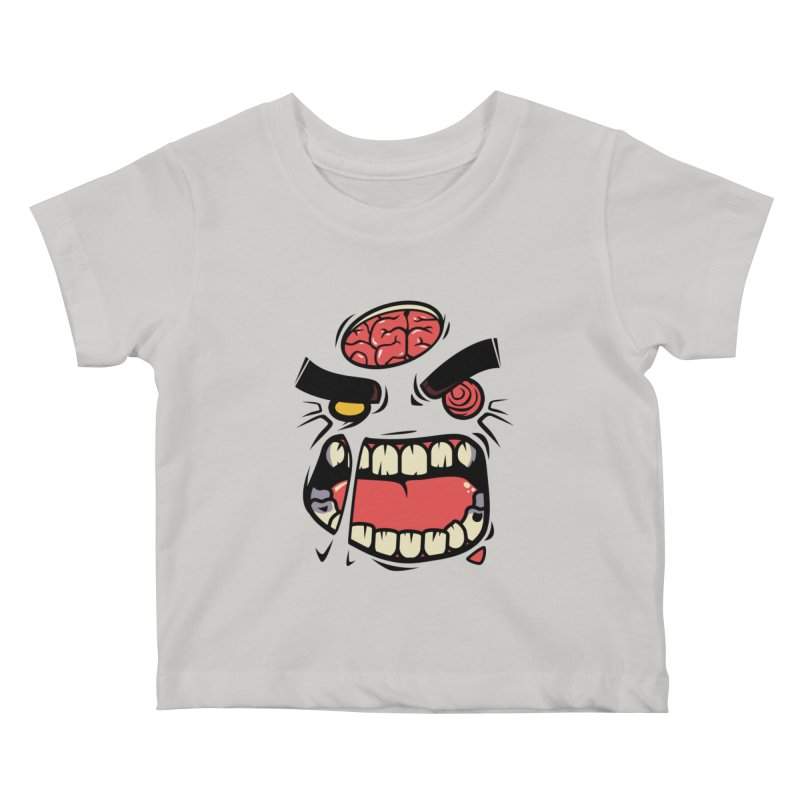 ANGRY ZOMBIE Kids Baby T-Shirt by mankeeboi's Artist Shop