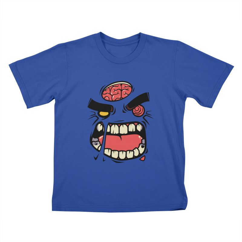 ANGRY ZOMBIE Kids T-Shirt by mankeeboi's Artist Shop