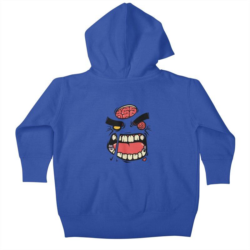 ANGRY ZOMBIE Kids Baby Zip-Up Hoody by mankeeboi's Artist Shop