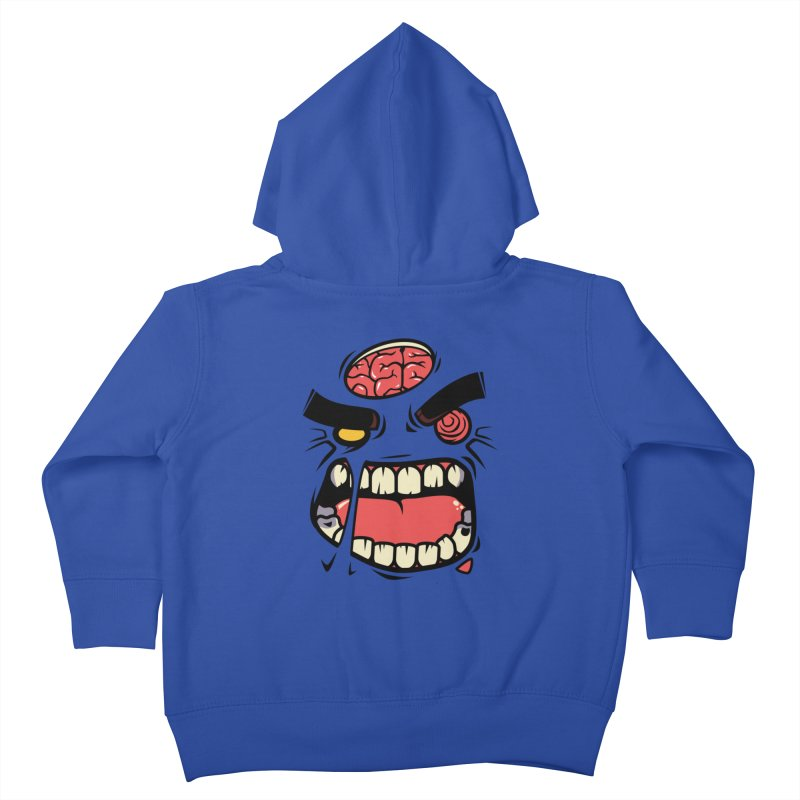 ANGRY ZOMBIE Kids Toddler Zip-Up Hoody by mankeeboi's Artist Shop