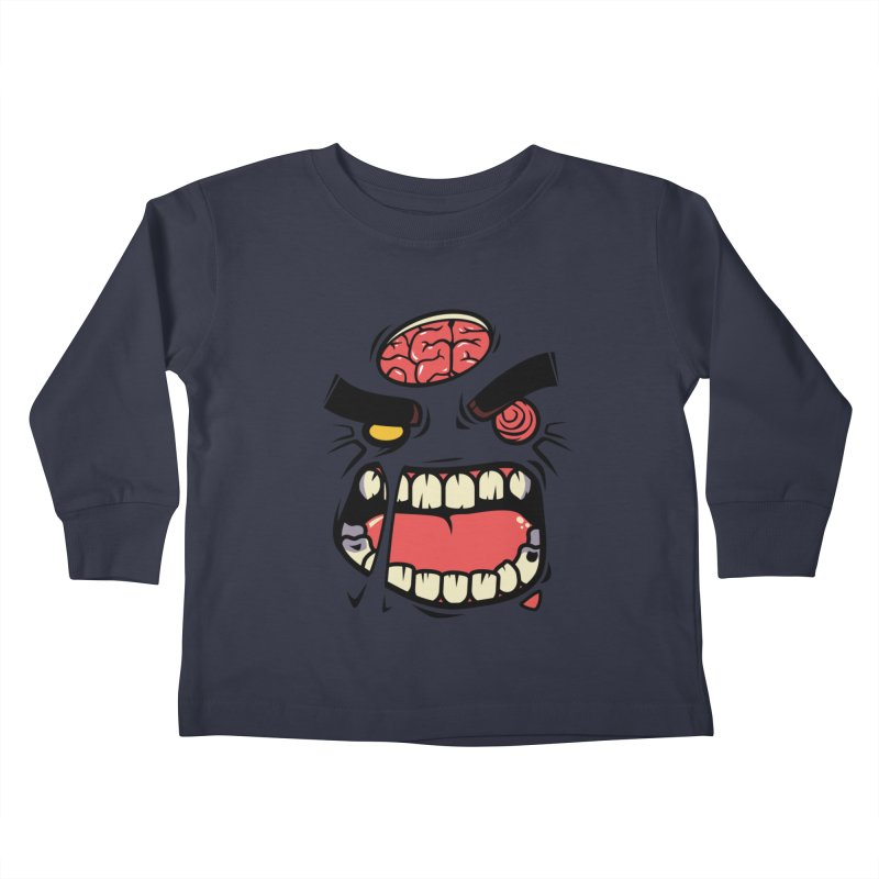 ANGRY ZOMBIE Kids Toddler Longsleeve T-Shirt by mankeeboi's Artist Shop