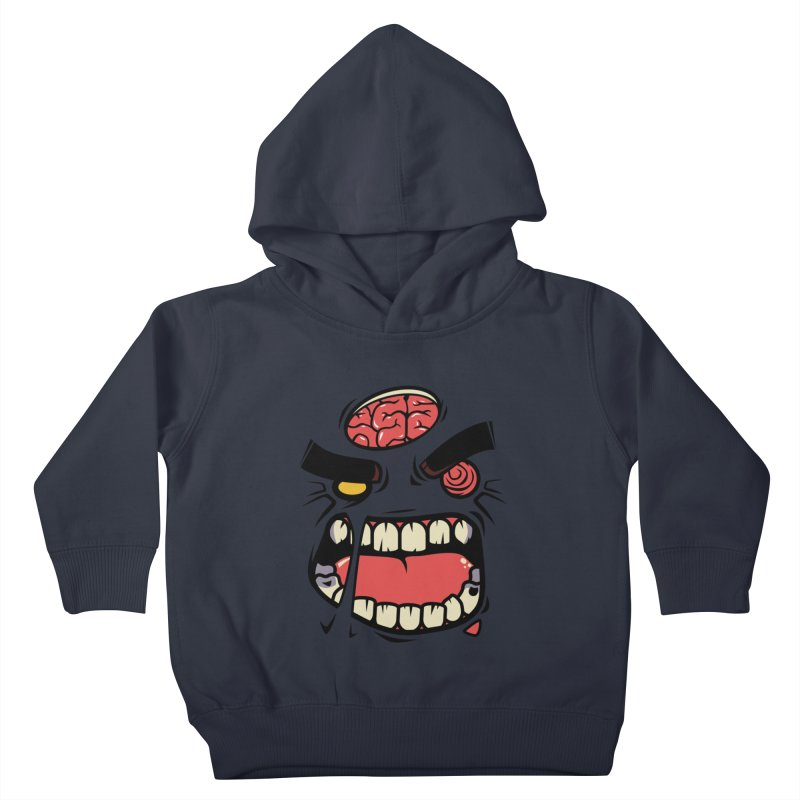 ANGRY ZOMBIE Kids Toddler Pullover Hoody by mankeeboi's Artist Shop