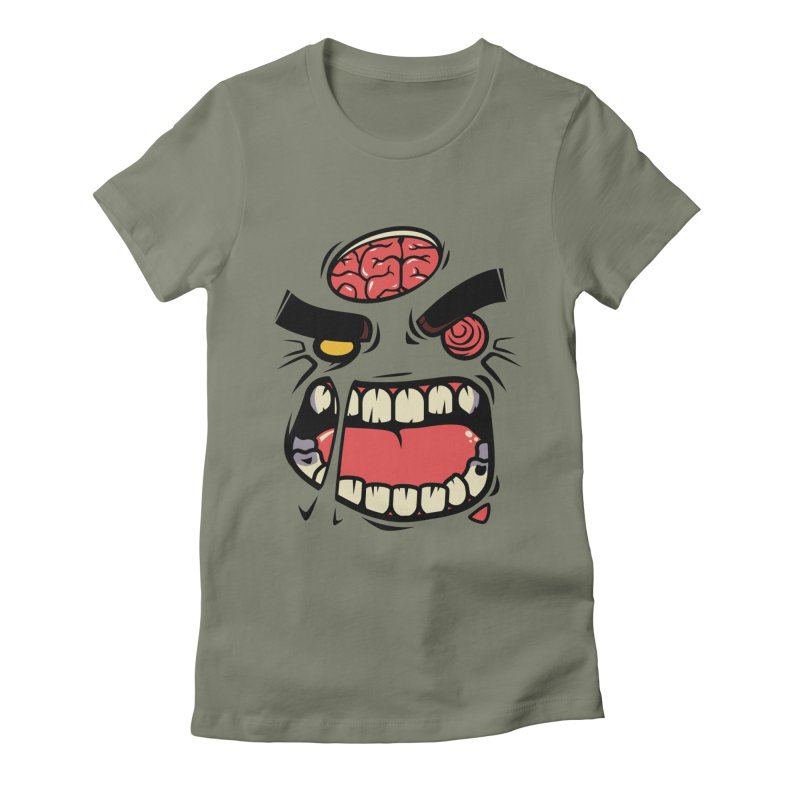 ANGRY ZOMBIE Women's Fitted T-Shirt by mankeeboi's Artist Shop