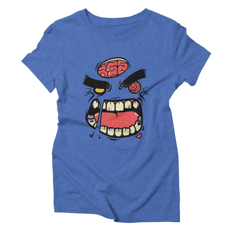 ANGRY ZOMBIE Women's Triblend T-shirt by mankeeboi's Artist Shop