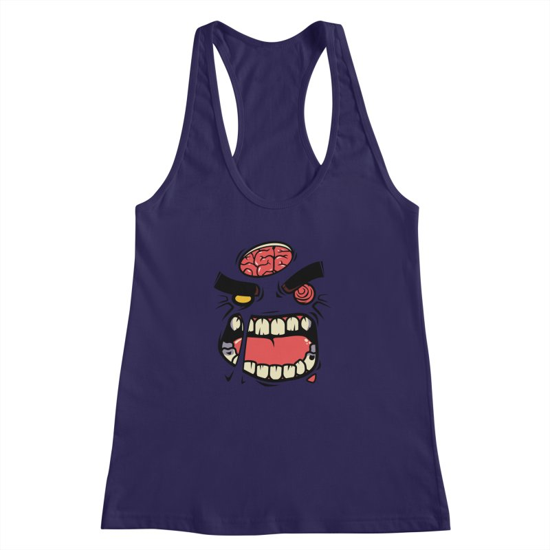 ANGRY ZOMBIE Women's Racerback Tank by mankeeboi's Artist Shop