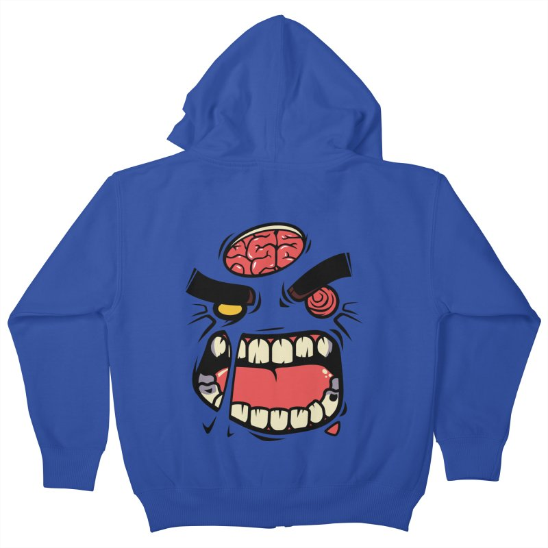 ANGRY ZOMBIE Kids Zip-Up Hoody by mankeeboi's Artist Shop